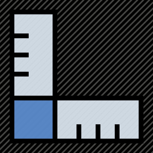 carpentry, drafting, measure, measurement, ruler, yard stick icon