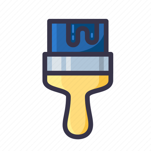 brush, color, coloring, job, paint, painting, tool icon
