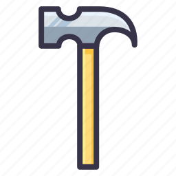 build, hammer, job, repair, service, tool, work icon