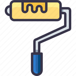 job, paint, painting, roll, roller, tool icon