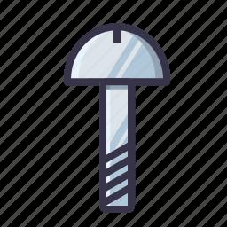 job, nailing, nails, screw, tool icon