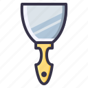 build, digging, job, shovel, tool, trowel icon