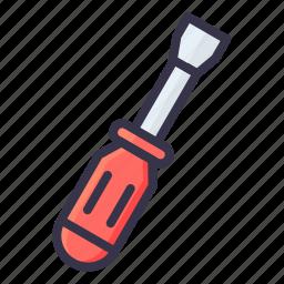 driver, repair, repairing, screw, screwdriver, tool icon