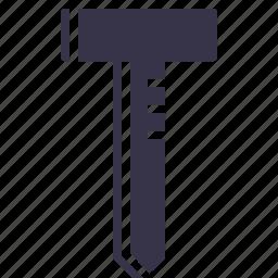 anchor, construction, drill, nail, nailing, screw, tool icon