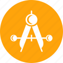 geometry, tool, compass, equipment, measure, drawing icon