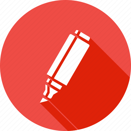 equipment, highlighter, marker, material, paint, stationary, tube icon