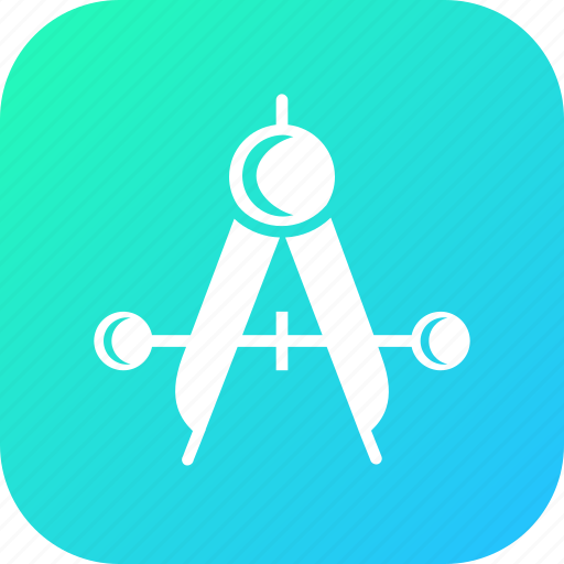 compass, drawing, equipment, geometry, measure, tool icon