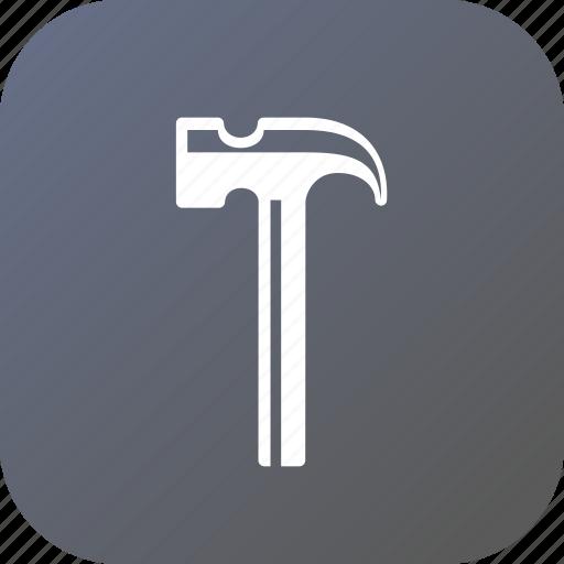 build, hammer, job, repair, service, tool, work icon