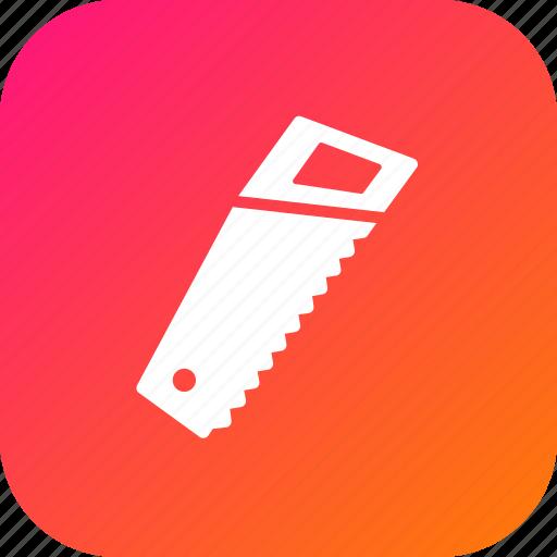 cutting, handsaw, job, saw, tool, wood, workshop icon
