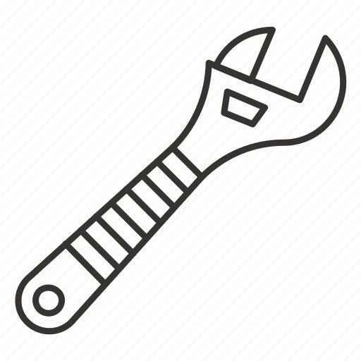 adjustable, equipment, tool, tools, wrench icon