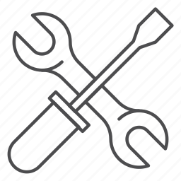 equipment, screwdriver, tool, tools, work, wrench icon