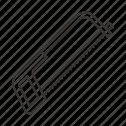 construction, hacksaw, iron, saw, tool, tools icon