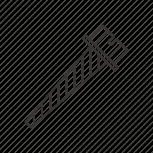 bolt, driver, fastener, repair, screw, tool icon