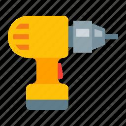 construction, drill, equipment, machine, perforator, repair, tool icon