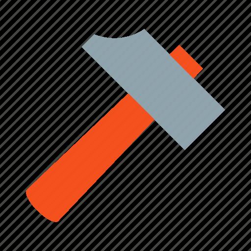 construction, gavel, hammer, hammering, mallet, nail, tool icon
