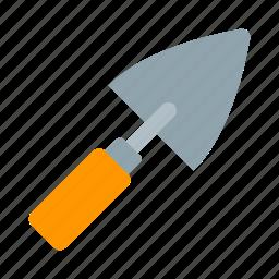 build, building, construction, shpatel, spatula, tool, trowel icon
