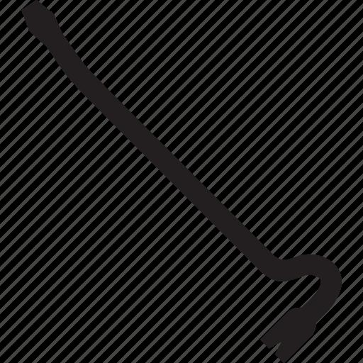 crowbar, metal, scrap, tool icon
