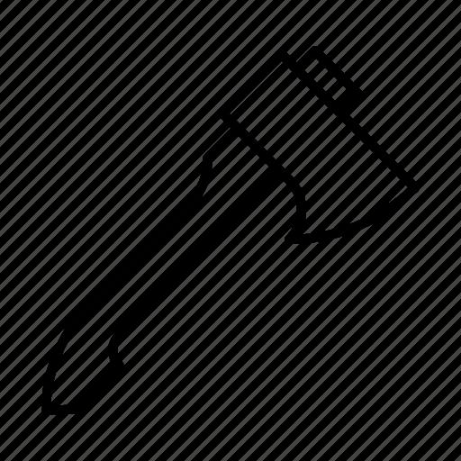 axe, hatchet, tool, weapon, wood icon