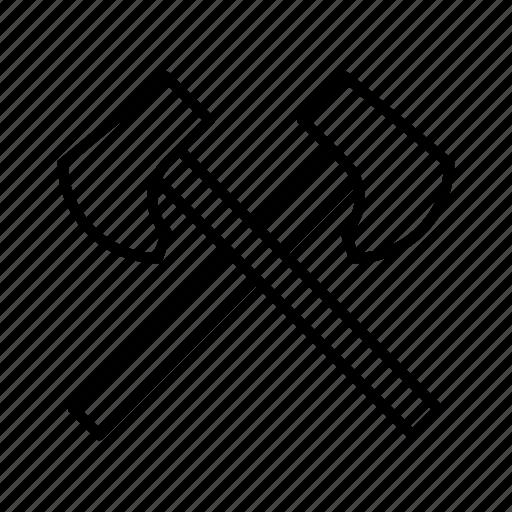 axe, hatchet, tool, tools, weapon, wood icon
