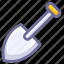 construction, shovel, tool icon