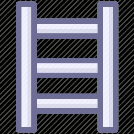 ladder, stepladder, up icon