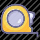 length, measure, size, tape measure icon