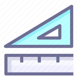 desing, ruler, size, tool, triangle board icon