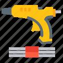 construction, glue, gun, hot, tool, tools icon