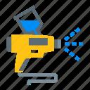 construction, gun, paint, spray, tools icon