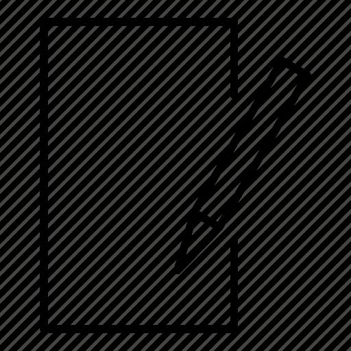 pen, pencil, signature, write, written icon