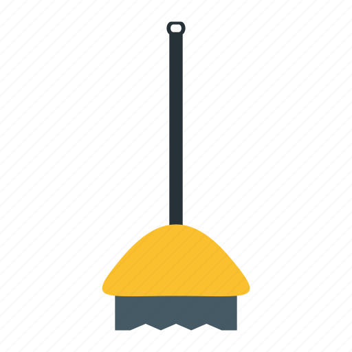 broom, clean, sweep, tool icon