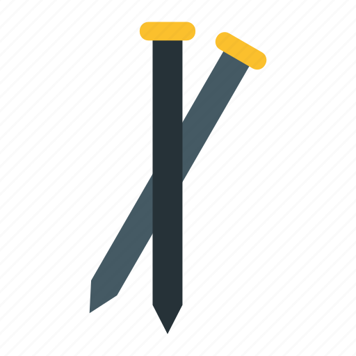 construction, nail, tool, work icon