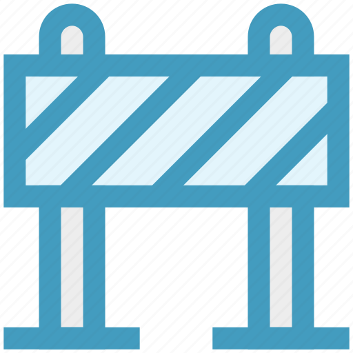 barrier, block, construction, road, road block, stop, under icon