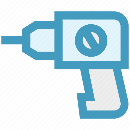 construction, construction tool, dig machine, drill, drill machine, drilling machine icon