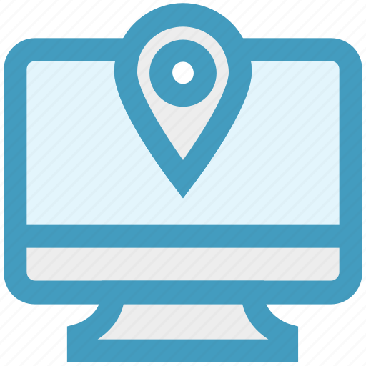 construction, gps, lcd, location, map pin, navigation, screen icon