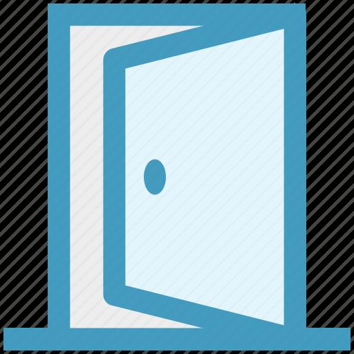 construction, door, enter, exit, house, open icon