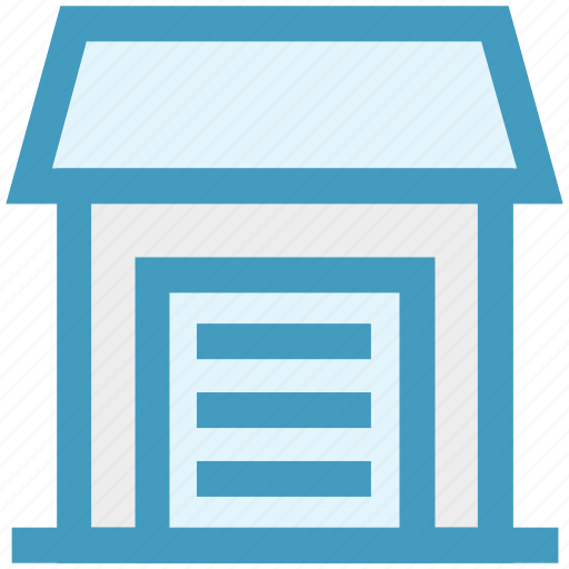 building, construction, garage, home, house, real estate icon