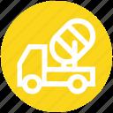 cement truck, concrete, concrete truck, construction, truck, vehicle