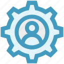 cogwheel, construction, gear, gear wheel, options, person, setting