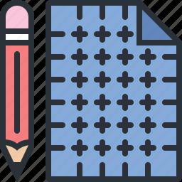 blueprint, construction, design, pencil, tools icon