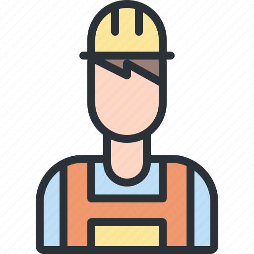 construction, engineer, user, worker icon
