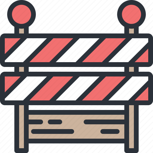 construction, danger, equipment, roadblock, warning icon