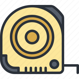 construction, equipment, line, tape, tool icon