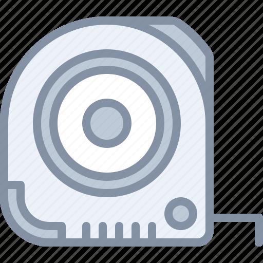construction, equipment, line, tape, tool icon