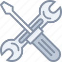 equipment, mechanic, screwdriver, tools, wrench icon