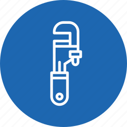 equipment, fitting, pipe, plumber, tool, wrench icon