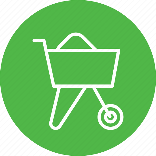buggy, cart, concrete, constructikon, tool icon