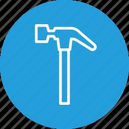 build, construction, equipment, hammer, repair, tool icon