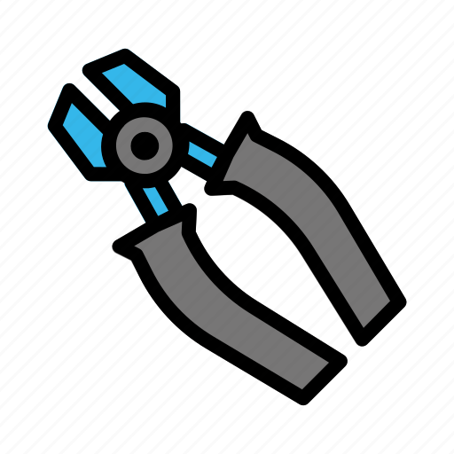 construction, contractor, equipment, industrial, industry, pliers, site icon