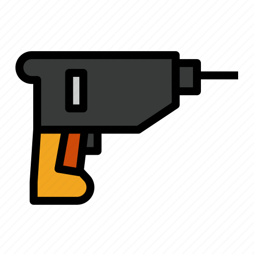 Construction, drill, naill, setting, tool icon - Download on Iconfinder